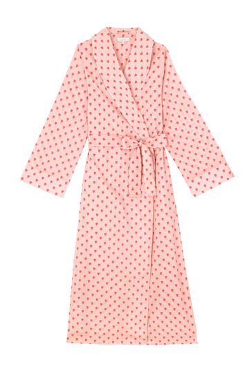 Queen of Hearts Cotton Dressing Gown
