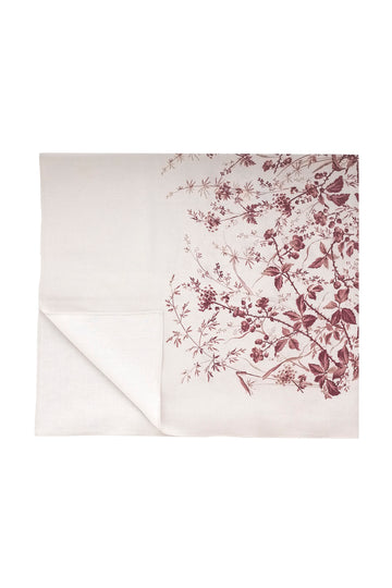 Blackberry Print Linen Tablecloth