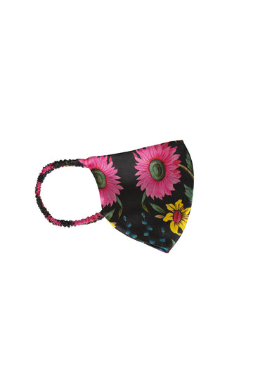 Wildflower Print Silk Face mask