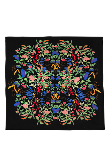 Anaïs Black Silk Scarf | Silk Accessories | YOLKE