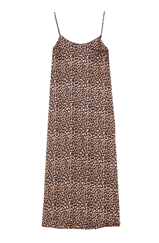 Leopard Print Silk Slip Dress | Silk Daywear | YOLKE