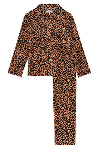 LiTTLE Leopard Print Silk Pyjamas | YOLKE