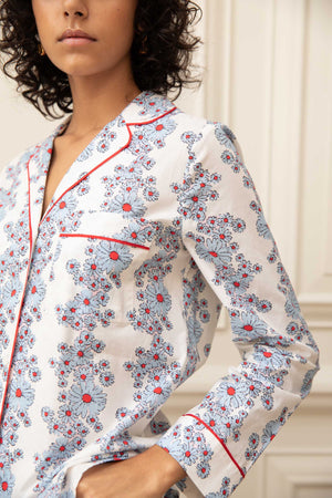 Blossom Cornflower Cotton Pyjama Set