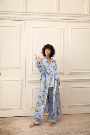 Lemon Print Cotton Pyjama Set