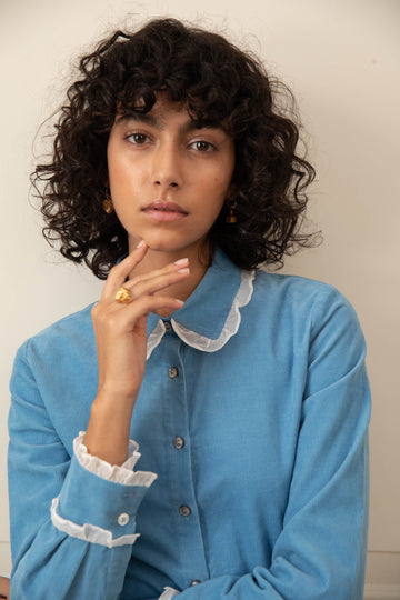 Belle Blouse in Cornflower Blue