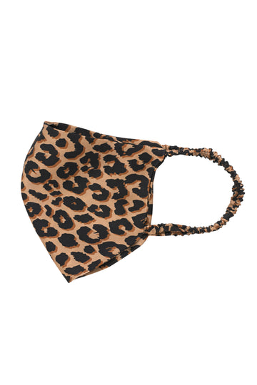 Leopard Print Silk Face mask