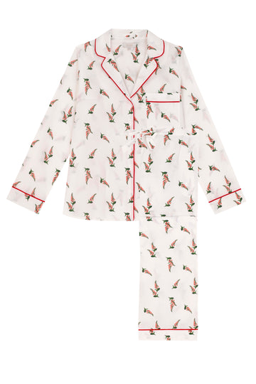 Foxglove Print Cotton Pyjama Set