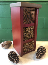 Load image into Gallery viewer, Mason Bee Hotels, Hand-crafted Wood