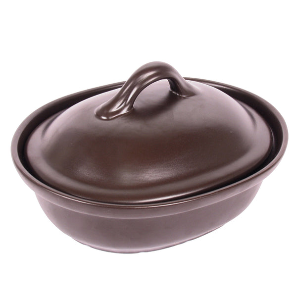 Stoneware Casserole with Lid, 3 Qt.