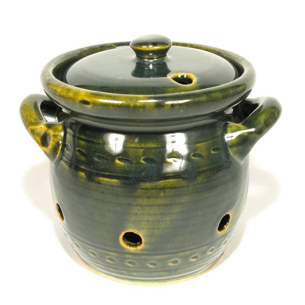 Mountain Green Garlic Keeper Crock