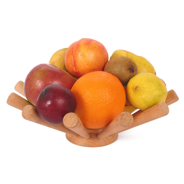 Wood Starburst Fruit Bowl