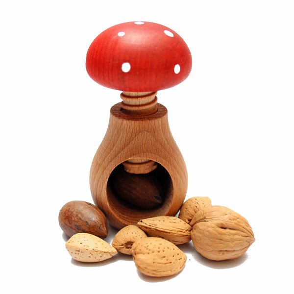 Wood Mushroom Nut Cracker
