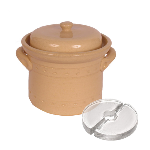 Mountain Fermenting Crock - Cream, 2 or 3 Liter