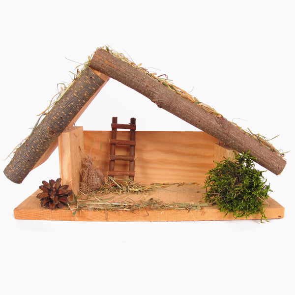 Noel - Handmade Wood Nativity Manger