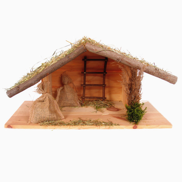 Rejoice - Handmade Wood Nativity Manger