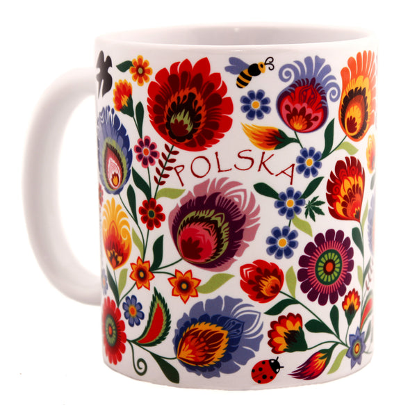 Lowicz Folk Art Mug