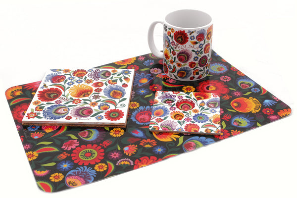 Lowicz Folk Art Coasters