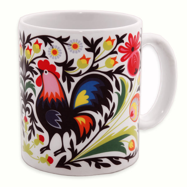 Rooster Polish Folk Art Mug