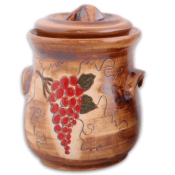 Artisan Fermenting Crock, Grapes 2.5L or 5L