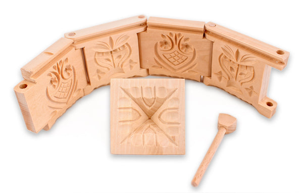Wood Butter Mold - Folk Art