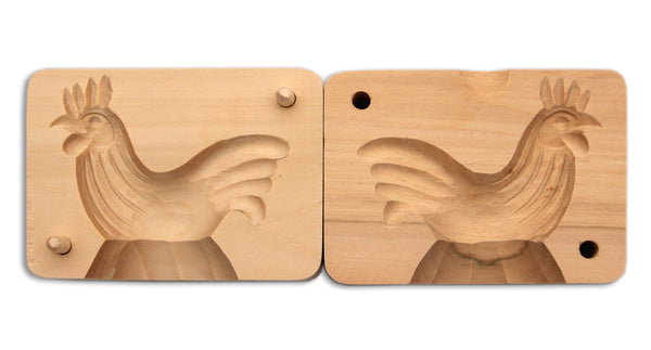 Wood Butter Mold - Rooster