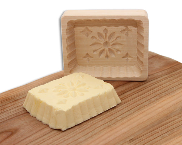 Wood Butter Mold - Flower