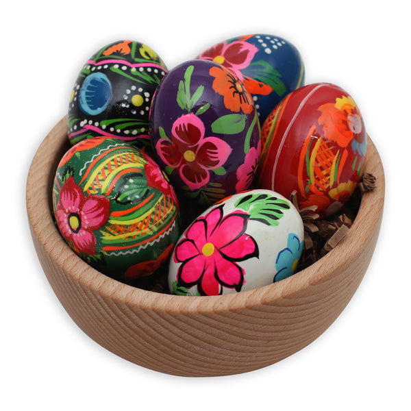 Polish Painted Wood Easter Eggs
