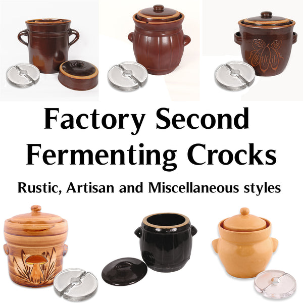 FACTORY SECOND - Fermenting Crocks, Various styles