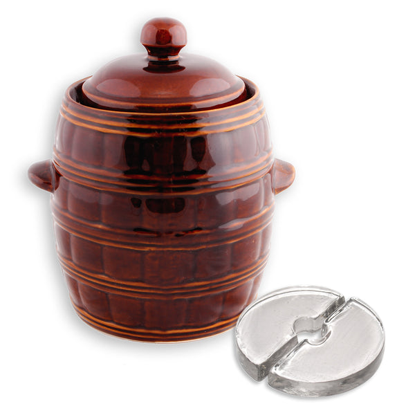 Polish Barrel Fermenting Crock with Weights - 3L, 4L or 8L