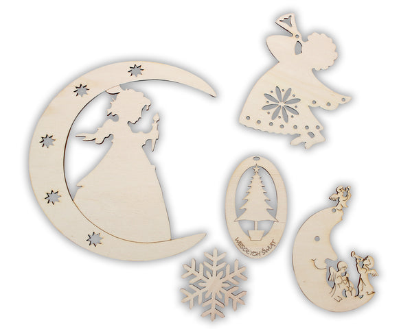 Polish Wood Christmas Ornament Set