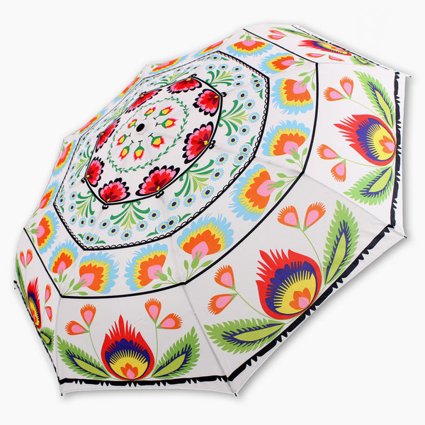 Lowicz Folk Art Umbrella - Compact