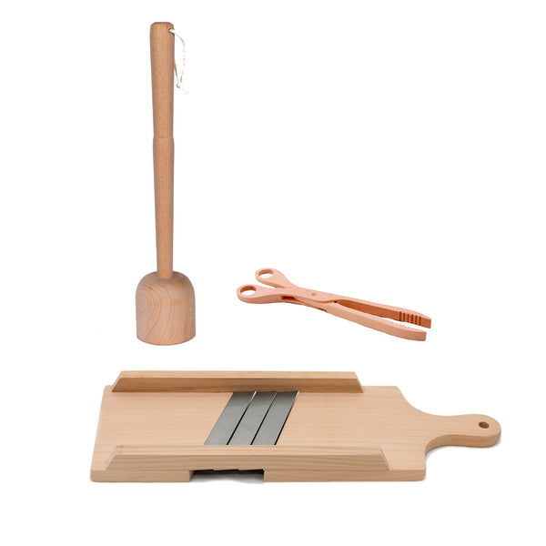 Fermenting Tool Kit - Cabbage Shredder, Masher & Tongs