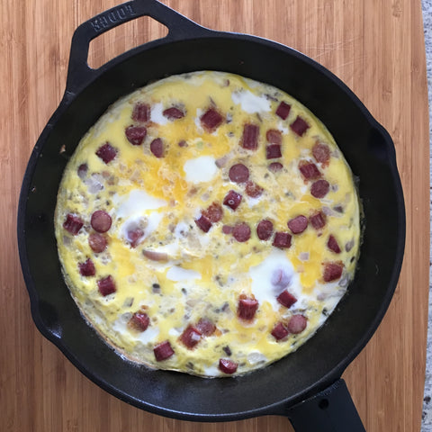 Jerky and Onion Frittata