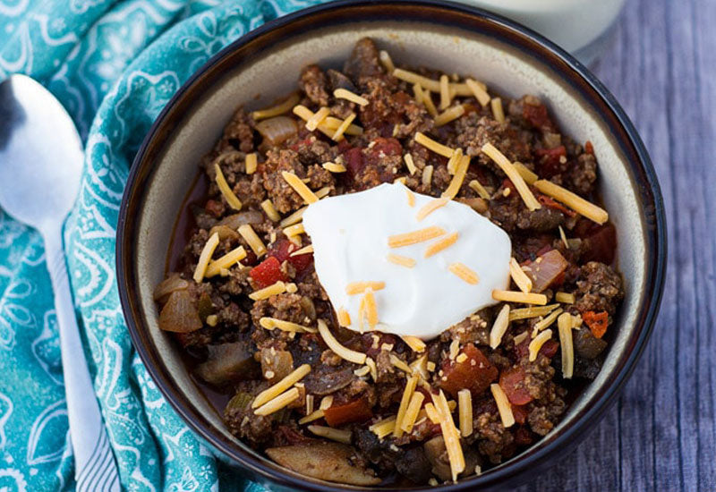 Beef and Mushroom Low-Carb Chili Recipe