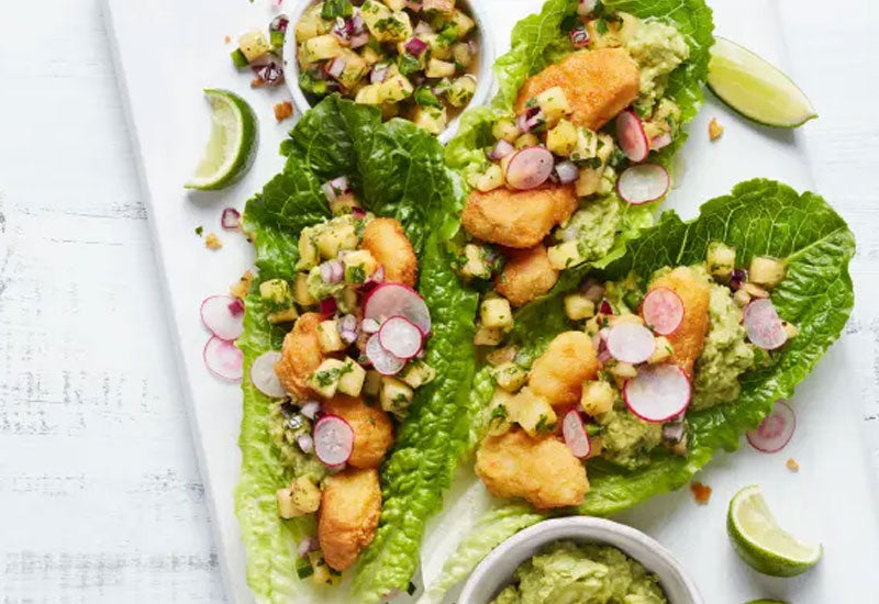 Fish Taco Lettuce Wraps Recipe