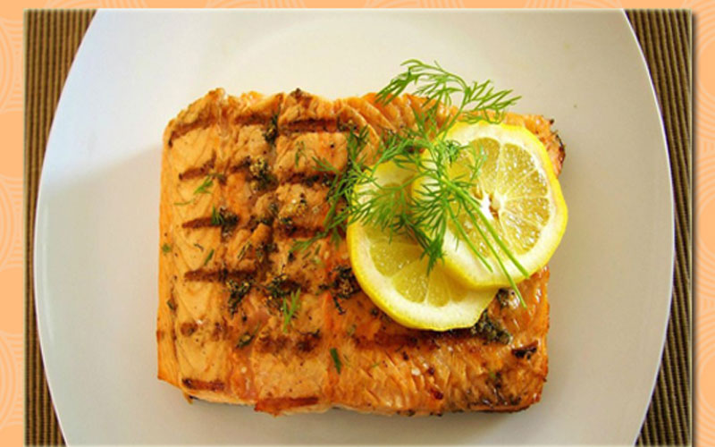 Fast Metabolism Diet Recipe - Phase 2 - Grilled Salmon Filets With Lemon & Dill