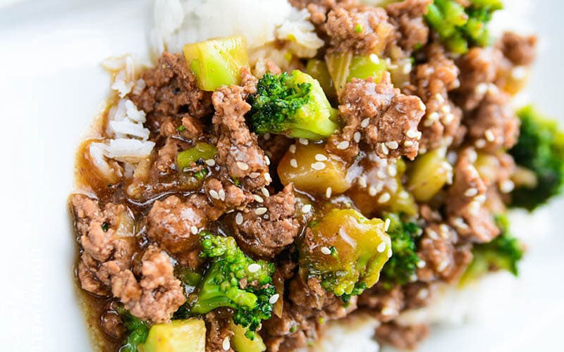 Gluten-Free Ground Beef and Broccoli