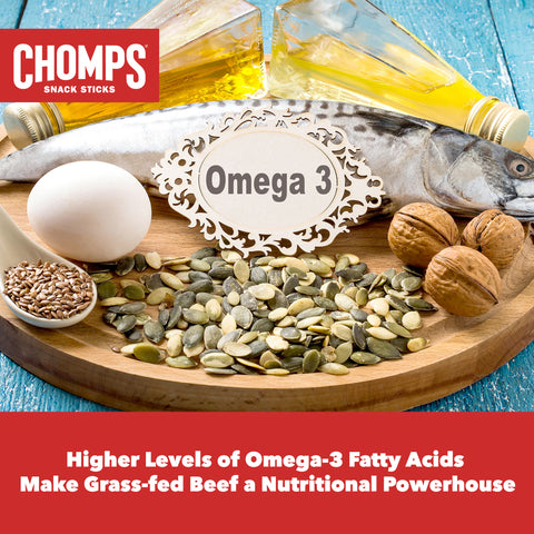 Higher Levels of Omega-3 Fatty Acids  Make Grass-fed Beef a Nutritional Powerhouse