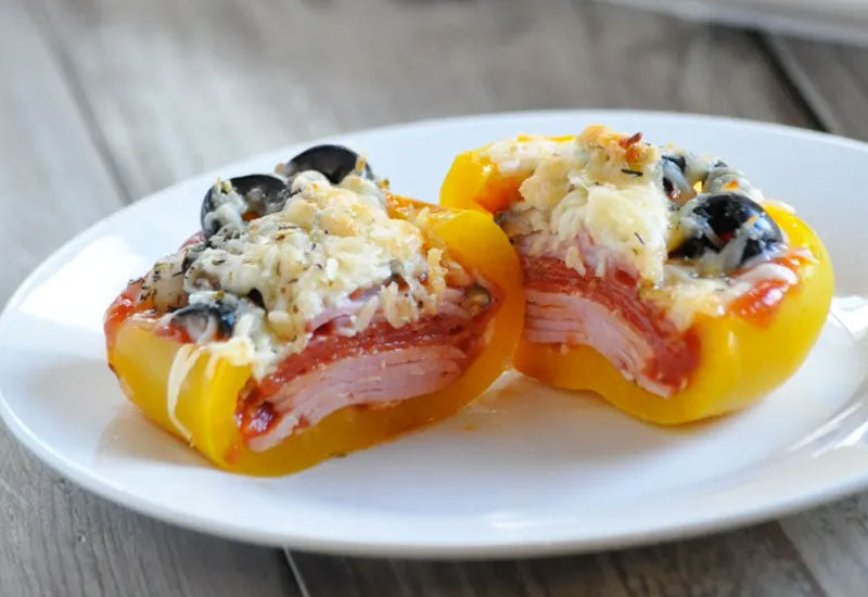 Keto Supreme Pizza Stuffed Peppers Recipe