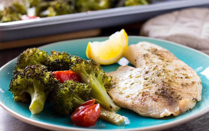 Fast Metabolism Diet Recipe - Phase 1 - Roasted Tilapia & Broccoli