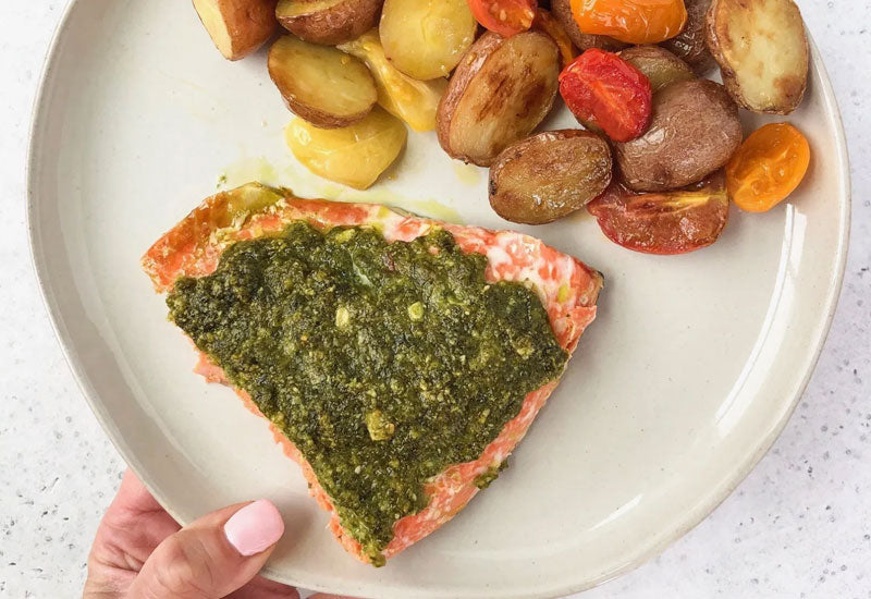 Sheet Pan Pesto Salmon