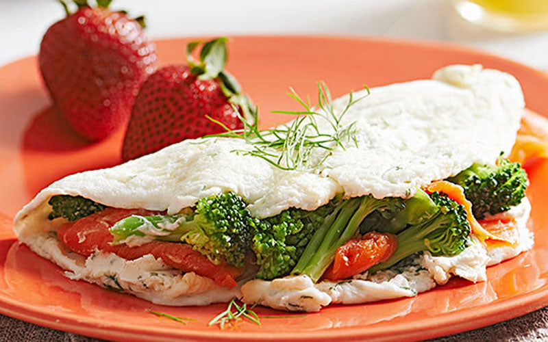 Fast Metabolism Diet Recipe - Phase 2 - Smoked Salmon & Egg White Omelet