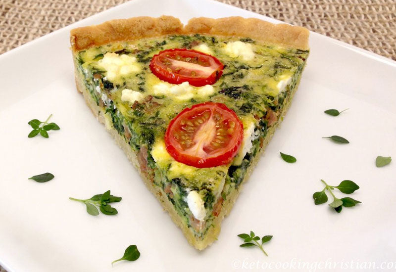 Sweet Italian Sausage and Spinach Quiche Recipe