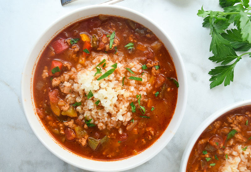 Instant Pot Taco Stuffed Pepper Soup Recipe