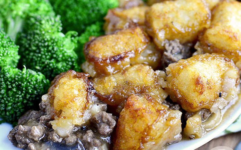 Gluten-Free Skillet Tater Tot Casserole With Ground Beef