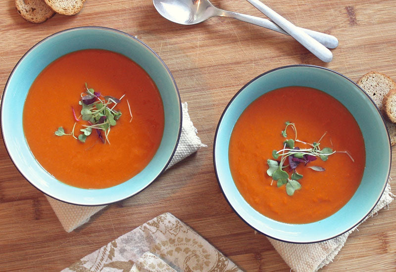Homemade tomato soup is another healthy snack idea for school lunches