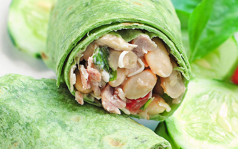 Fast Metabolism Diet Recipe - Phase 1 - White Bean Wrap