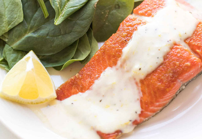 Whole30 Salmon with Lemon Garlic Aioli