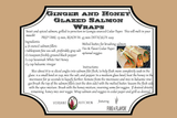 Ginger Honey Glazed Salmon Wrap