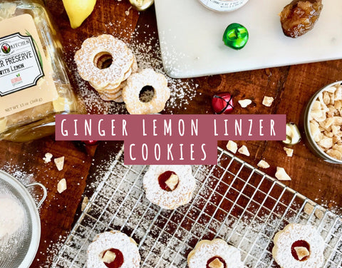 Ginger Lemon Linzer Cookies